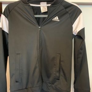 Boys Youth adidas black sz med 10/12 zip jacket